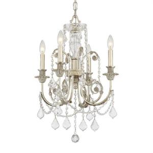 Regis - Four Light Mini Chandelier in Classic Style - 17.5 Inches Wide by 25 Inches High