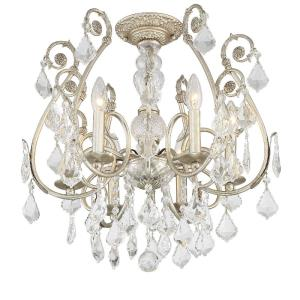 Regis - 6 Light Semi-Flush Mount in Classic Style - 20 Inches Wide by 20 Inches High