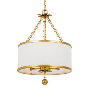 Broche - Three Light Chandelier