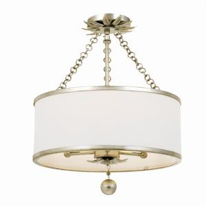 Broche - Three Light Flush Mount in traditional and contemporary Style - 14 Inches Wide by 20 Inches High