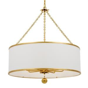 Broche - Eight Light Chandelier in natural, organic, and raw Style - 29 Inches Wide by 33.5 Inches High