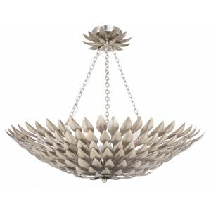 Broche - Six Light Semi-Flush Mount in traditional and contemporary Style - 24.5 Inches Wide by 11 Inches High