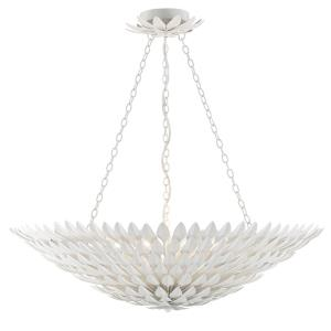 Broche - Eight Light Large Chandelier in Traditional and Contemporary Style - 30 Inches Wide by 7 Inches High