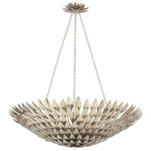 Broche - Eight Light Large Chandelier
