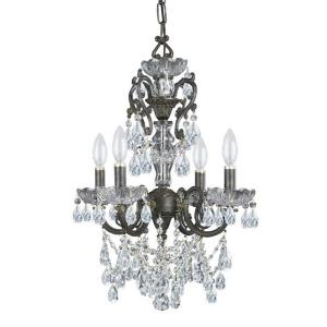 Legacy - Four Light Mini Chandelier in classic, elegant, and casual Style - 15 Inches Wide by 21 Inches High