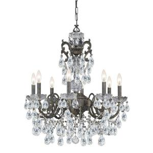 Legacy - Eight Light Chandelier in traditional and contemporary Style - 26 Inches Wide by 30 Inches High
