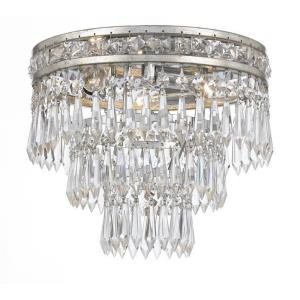 Mercer Crystal 3 Light Ceiling Mount