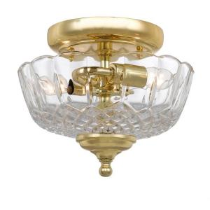 Palla Traditional 2 Light Ceiling Mount Brass