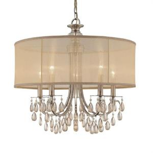 Hampton - Five Light Chandelier in minimalist Style - 24 Inches Wide by 23 Inches High