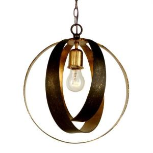 Luna - One Light Sphere Chandelier in classic, elegant, and casual  Style - 12 Inches Wide by 13.75 Inches High