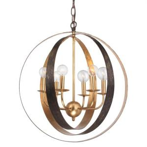 Luna - Six Light Sphere Chandelier