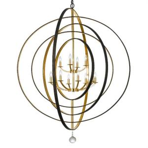 Luna - Twelve Light Chandelier in classic, elegant, and casual Style - 60 Inches Wide by 63 Inches High