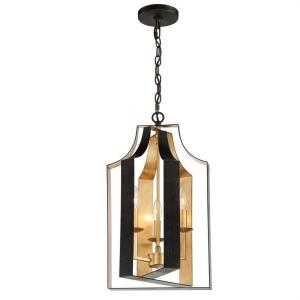 Luna - 3 Light Lantern in classic, elegant, and casual  Style - 11 Inches Wide by 22.5 Inches High