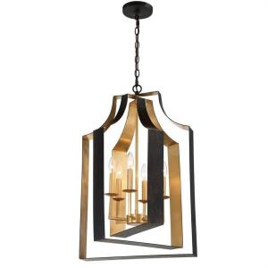 Luna - 6 Light Lantern in classic, elegant, and casual  Style - 15.67 Inches Wide by 28.54 Inches High