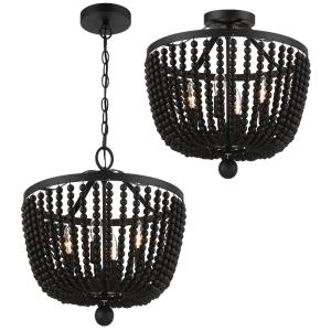 Rylee - 4 Light Flush Mount in Classic Style - 16.5 Inches Wide by 17 Inches High