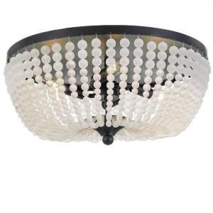 Rylee - Four Light Flush Mount in Classic Style - 18.5 Inches Wide by 7.5 Inches High