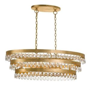 Perla - Six Light 3-Tier Chandelier in classic, elegant, and casual Style - 36 Inches Wide by 13 Inches High