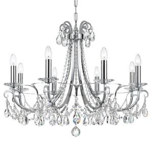 Othello - Eight Light Chandelier in Traditional and Contemporary Style - 31 Inches Wide by 24.5 Inches High