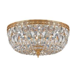 3 Light Flush Mount in classic, elegant, and casual Style - 14 Inches Wide by 7.5 Inches High