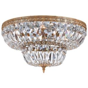 Richmond - Four Light Flush Mount in natural, organic, and raw Style - 18 Inches Wide by 11 Inches High