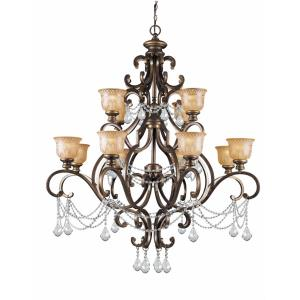 Norwalk - Twelve Light 2-Tier Chandelier