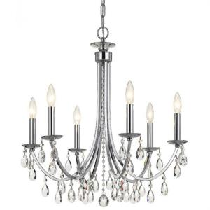 Bridgehampton - 6 Light Chandelier in natural, organic, and raw Style - 26 Inches Wide by 26 Inches High
