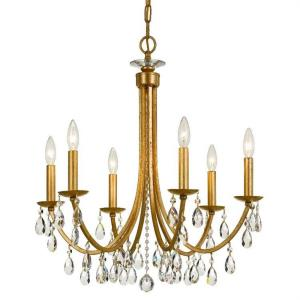 Bridgehampton - 6 Light Chandelier in Classic Style - 26 Inches Wide by 26 Inches High