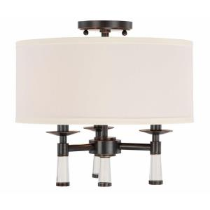 Baxter - Three Light Flush Mount