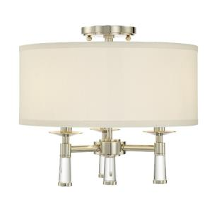Baxter - Three Light Flush Mount in Timeless Style - 16 Inches Wide by 14.25 Inches High