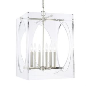 Drake - Six Light Chandelier in Traditional and Contemporary Style - 18.75 Inches Wide by 23 Inches High