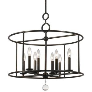 Cameron - Eight Light Chandelier in minimalist Style - 24 Inches Wide by 24.75 Inches High