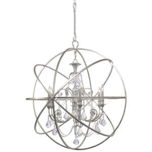 Solaris - Six Light Chandelier in traditional and contemporary Style - 40 Inches Wide by 42 Inches High