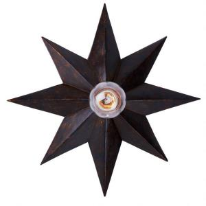 Athena Rustic Chic 1 Light Ceiling Mount Steel