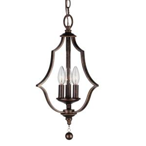 Parson Rustic Chic 3 Light Ceiling Mount Steel