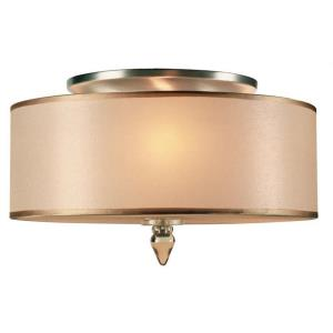 Luxo Transitional 3 Light Ceiling Mount Steel