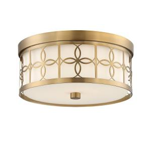 Anniversary - Two Light Flush Mount in traditional and contemporary Style - 13.5 Inches Wide by 6 Inches High