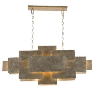 Bronson - Six Light Chandelier in traditional and contemporary Style - 43 Inches Wide by 18 Inches High