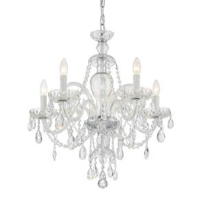 Candace - 5 Light Chandelier in Timeless Style - 25 Inches Wide by 26 Inches High