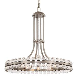 Clover - Eight Light Chandelier in Traditional and Contemporary Style - 22.5 Inches Wide by 22.5 Inches High
