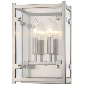 Danbury - Two Light Wall Sconce in natural, organic, and raw Style - 8 Inches Wide by 12 Inches High