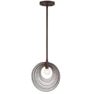 Doral - 1 Light Pendant in natural, organic, and raw Style - 10 Inches Wide by 11 Inches High