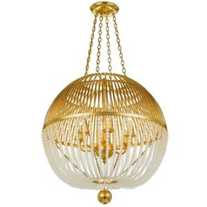 Duval - Six Light Chandelier in traditional and contemporary Style - 21 Inches Wide by 22.5 Inches High