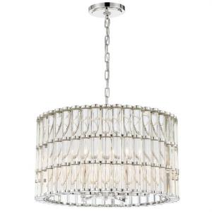 Elliot - 6 Light Chandelier in traditional and contemporary Style - 22.5 Inches Wide by 18 Inches High
