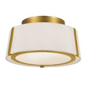 Fulton - Two Light Flush Mount in traditional and contemporary Style - 12 Inches Wide by 6 Inches High