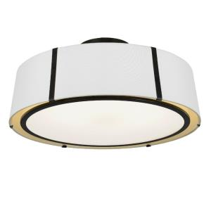 Fulton - Six Light Flush Mount in Classic Style - 24 Inches Wide by 10.25 Inches High