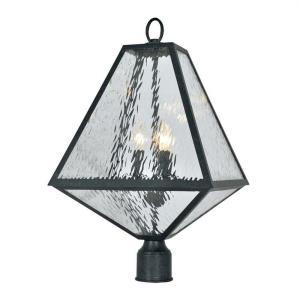 Glacier - Three Light Outdoor Post Lantern