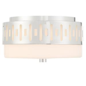 Keaton - 2 Light Flush Mount in classic, elegant, and casual Style - 13.37 Inches Wide by 6.62 Inches High