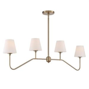 Keenan - 4 Light Chandelier in classic, elegant, and casual Style - 48 Inches Wide by 15 Inches High