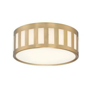 Kendal - Three Light Flush Mount in classic, elegant, and casual Style - 14 Inches Wide by 5 Inches High