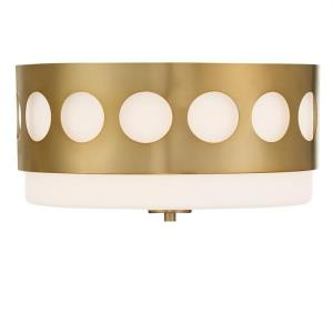 Kirby - 2 Light Flush Mount in Classic Style - 13.37 Inches Wide by 6.87 Inches High